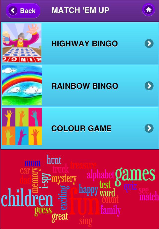 Screenshot Over 65 Fun Travel Games for kids, teenagers & all the family!